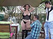 Delphine s pantyhose ripped during threesome