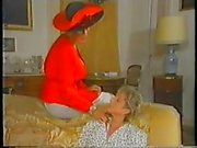 Ретро фон Зрелые Французский мама расположен фистинга