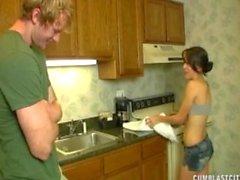 Sevimli Blonde Cumblasted Mutfak Küçük