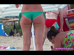 Sexy Bikini babes Hot Thong Asses Tanning Beach Voyeur Video