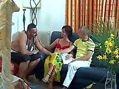 Bissexuais parte dos pares um do Threesome eléctricas