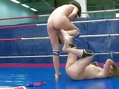 Nude wrestling and sexual domination
