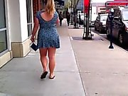 Short Skirt Teen Windy Day