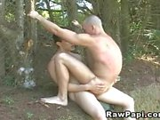 Latino Gay Bareback Fucked in the Forest