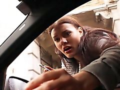 Hottie Kitana ass pounds by the driver