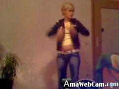 Privat home webcam strip in a german dormroom