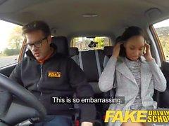 Fake Driving School 18 ans noir étudiant rempli par son professeur