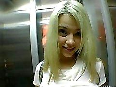 Blondine Teen Brille Amateur