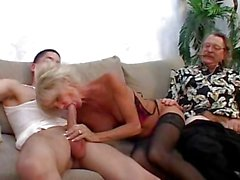Older dude lets his wife fuck