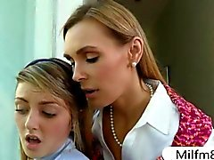 Tanya Tate threesome with teen student