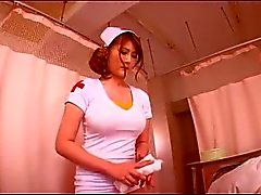 Leashed Busty Japanese Nurse