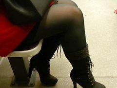 candid Strumpfhose in Bahn 570