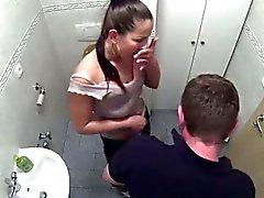 Brunette patient getting fucked in the bathroom