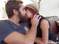 Petite Kiera gives head to Daniel Hunter