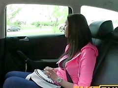 FakeTaxi Tight teen with big natural tits pays for her ride
