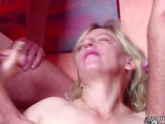 German Young Boys Seduce Milf to Fuck in Threesome