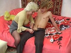 Russian Granny and young guy