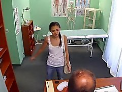 Doctor fucks Russian petite babe