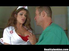 Nurse with Big Tits Caught Masturbating