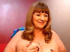 Blonde Reife Shows Aus Auf Webcam