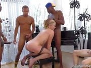 SUSummer can't play piano but she can blow a horn or 3 cuckold