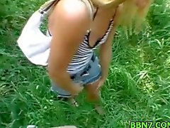 Street hooker gets sex outdoor