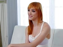 CastingCouch-X - Redhead Anny Aurora gets her pussy fucked is audition