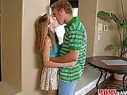 Teen couple caught fucking by stepmom