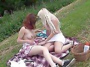 Hot lesbians going on a picnic