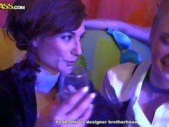 Drunk party sluts Joana and Kaylee feel horny
