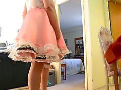 Sissi Strahl im Rosa Sissy Kleid ( den Rock geschaut ) . 2 Kameras