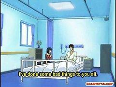 Coed Anime Cutie heißen Reiten Dick im Krankenhaus