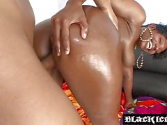 Monster ass ebony oiled up and BBC penetrated