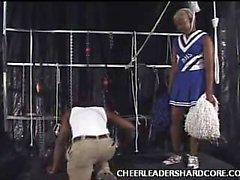 Ebenholz Cheerleader Aliya Penis vollgestopft
