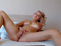 Супер горячий блондинку Babe Аппликатура ее сочная Pussy