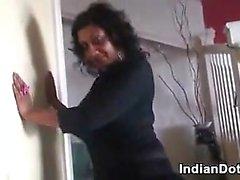 Amateur Mature Indian Does A Striptease