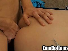 Emo twink Miles Pride getting fucked hard anally