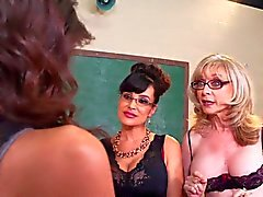 2 MILF teachers get their hands on a young girl