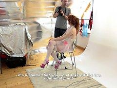 Meine frechen ALBUM - Redhead slowakische Modell fickt Fotografen