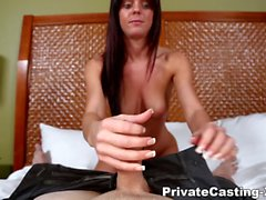 Private Casting X - Her first ever facial