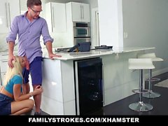 FamilyStrokes - Hot Teen scopa a Step cugino di Cucine
