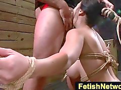 FetishNetwork Kimmie Lee chained fucked