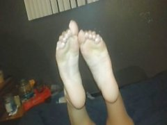 Greek Goddess Josie shows feet and footjob (full unseen video)