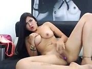 Lovely latin fingering on camera