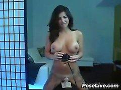 Webcam Babe Riding A Sybian