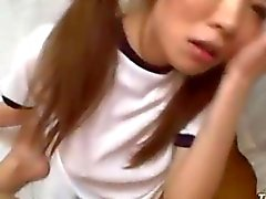 Schoolgirl babe loves to suck on the dudes dick