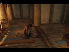 Sexy Skyrim-Dovakhin überzeugt Mikael, Carlotta allein zu verlassen.