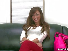 This casting video features Vanessa Sixxx. She's a new babe