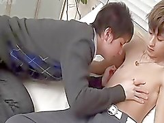 Two sexy asian twinks get naked for some fun