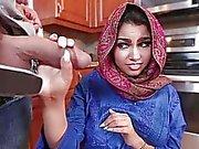Cute Arab teen babe Ada pussy creampied